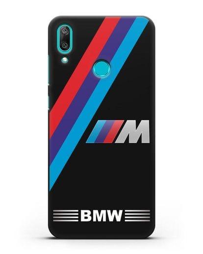 Чехол с логотипом BMW M Series силикон черный для Huawei Y7 2019