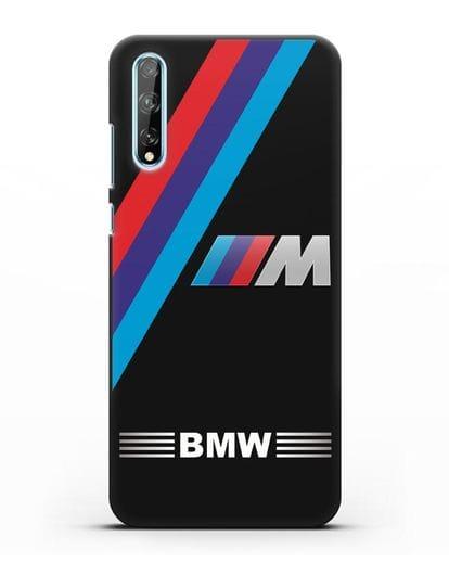 Чехол с логотипом BMW M Series силикон черный для Huawei Y8P