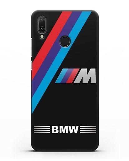 Чехол с логотипом BMW M Series силикон черный для Huawei Y9 2019
