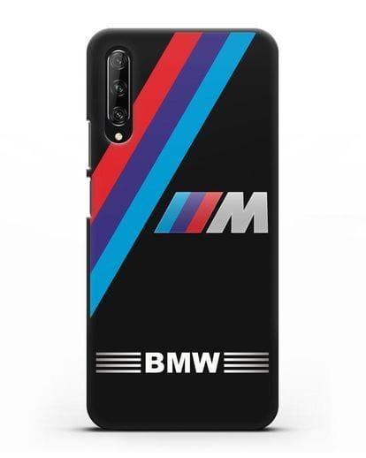 Чехол с логотипом BMW M Series силикон черный для Huawei Y9s