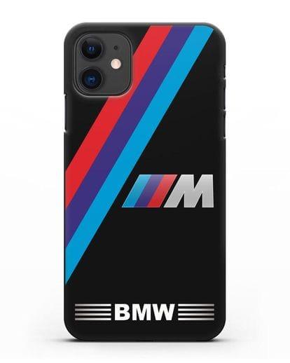 Чехол с логотипом BMW M Series силикон черный для iPhone 11