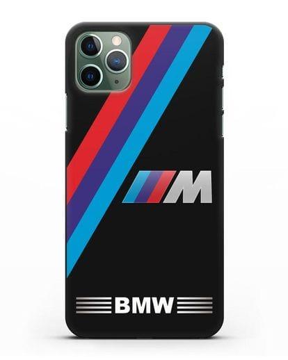 Чехол с логотипом BMW M Series силикон черный для iPhone 11 Pro Max