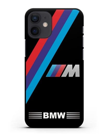 Чехол с логотипом BMW M Series силикон черный для iPhone 12 mini