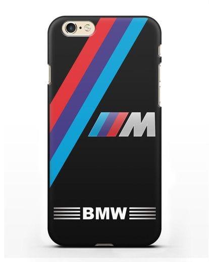 Чехол с логотипом BMW M Series силикон черный для iPhone 6s