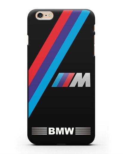 Чехол с логотипом BMW M Series силикон черный для iPhone 6 Plus