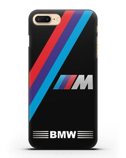 Чехол с логотипом BMW M Series силикон черный для iPhone 8 Plus