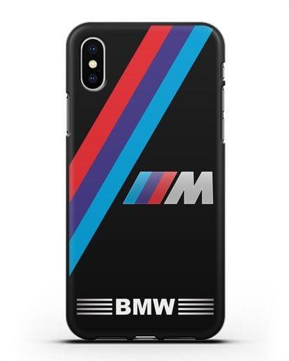 Чехол с логотипом BMW M Series силикон черный для iPhone X