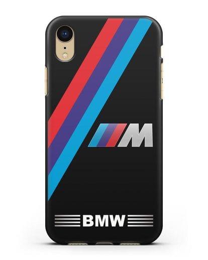 Чехол с логотипом BMW M Series силикон черный для iPhone XR