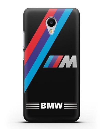 Чехол с логотипом BMW M Series силикон черный для MEIZU M3s mini