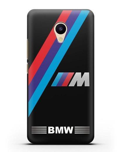 Чехол с логотипом BMW M Series силикон черный для MEIZU M5