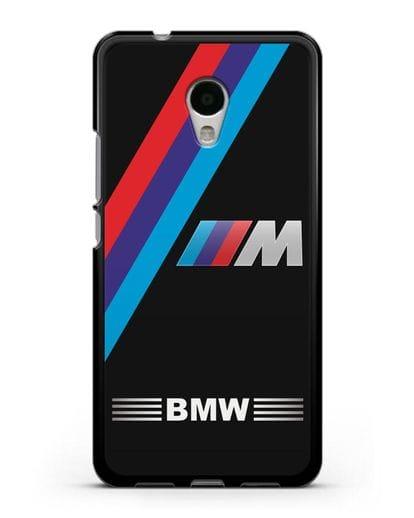 Чехол с логотипом BMW M Series силикон черный для MEIZU M5s