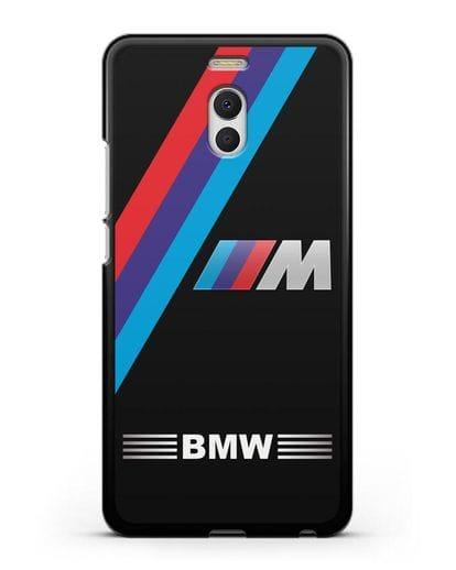 Чехол с логотипом BMW M Series силикон черный для MEIZU M6 Note