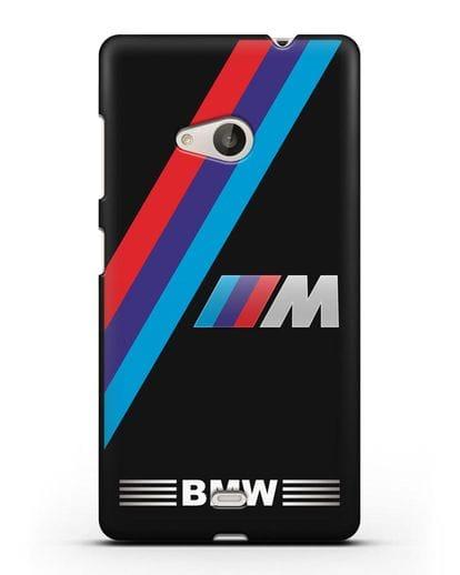 Чехол с логотипом BMW M Series силикон черный для Microsoft Lumia 535