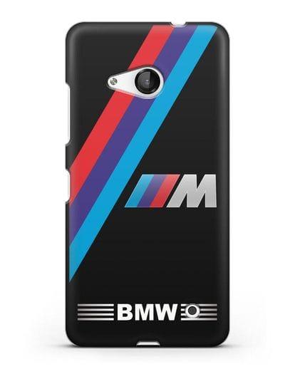 Чехол с логотипом BMW M Series силикон черный для Microsoft Lumia 550