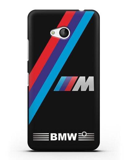 Чехол с логотипом BMW M Series силикон черный для Microsoft Lumia 640