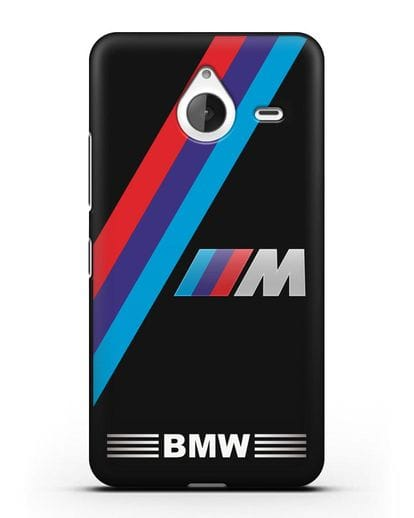 Чехол с логотипом BMW M Series силикон черный для Microsoft Lumia 640 XL