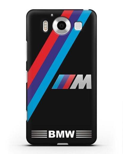 Чехол с логотипом BMW M Series силикон черный для Microsoft Lumia 950