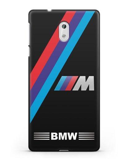 Чехол с логотипом BMW M Series силикон черный для Nokia 3