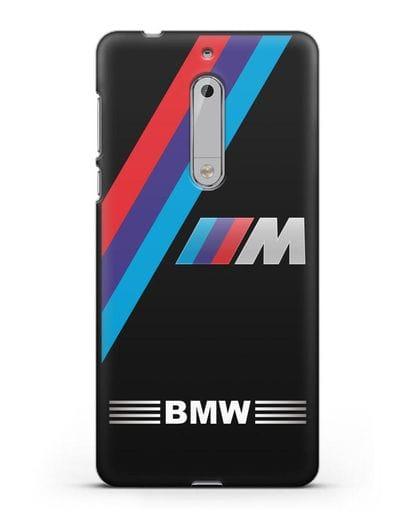 Чехол с логотипом BMW M Series силикон черный для Nokia 5