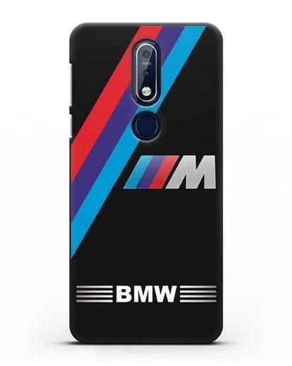 Чехол с логотипом BMW M Series силикон черный для Nokia 7.1