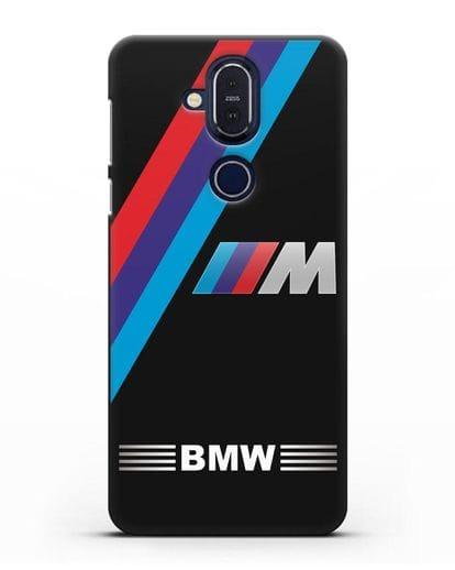 Чехол с логотипом BMW M Series силикон черный для Nokia 7.1 plus