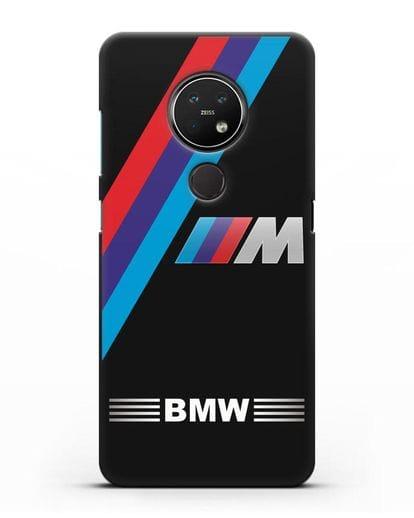 Чехол с логотипом BMW M Series силикон черный для Nokia 7.2