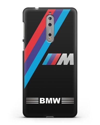 Чехол с логотипом BMW M Series силикон черный для Nokia 8