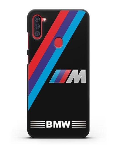 Чехол с логотипом BMW M Series силикон черный для Samsung Galaxy A11 [SM-A115F]