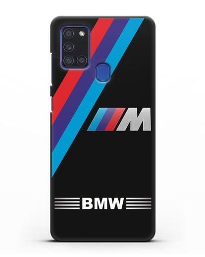 Чехол с логотипом BMW M Series силикон черный для Samsung Galaxy A21s [SM-A217F]