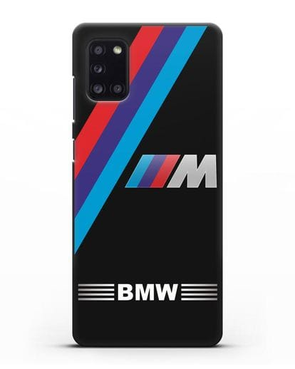 Чехол с логотипом BMW M Series силикон черный для Samsung Galaxy A31 [SM-A315F]