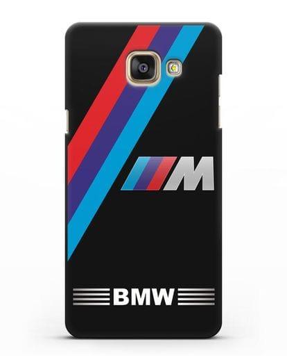 Чехол с логотипом BMW M Series силикон черный для Samsung Galaxy A3 2016 [SM-A310F]