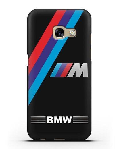 Чехол с логотипом BMW M Series силикон черный для Samsung Galaxy A3 2017 [SM-A320F]