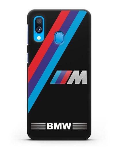 Чехол с логотипом BMW M Series силикон черный для Samsung Galaxy A40 [SM-A405F]