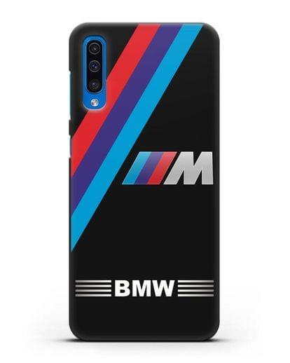 Чехол с логотипом BMW M Series силикон черный для Samsung Galaxy A50 [SM-A505F]