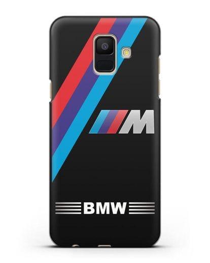 Чехол с логотипом BMW M Series силикон черный для Samsung Galaxy A6 2018 [SM-A600F]