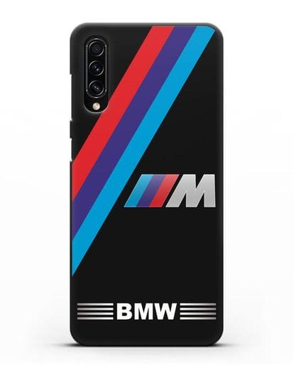 Чехол с логотипом BMW M Series силикон черный для Samsung Galaxy A70s [SM-A707F]
