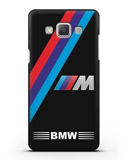 Чехол с логотипом BMW M Series силикон черный для Samsung Galaxy A7 2015 [SM-A700F]