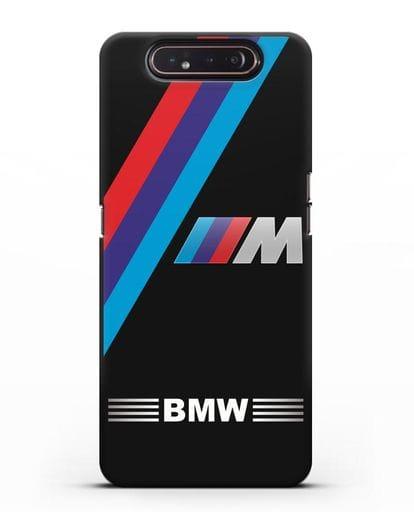 Чехол с логотипом BMW M Series силикон черный для Samsung Galaxy A80 [SM-A805F]
