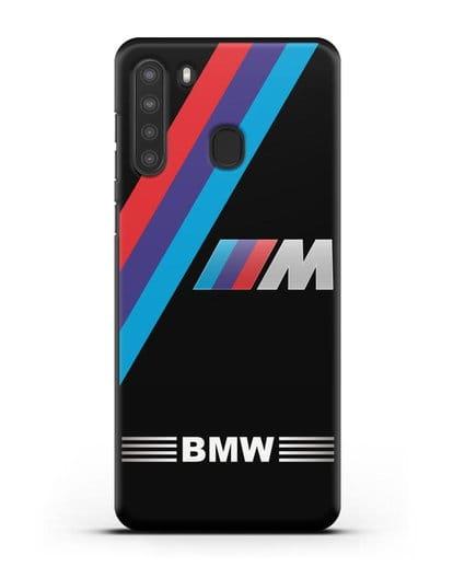 Чехол с логотипом BMW M Series силикон черный для Samsung Galaxy A21 [SM-A215]