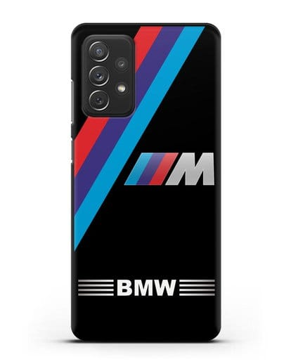Чехол с логотипом BMW M Series силикон черный для Samsung Galaxy A72 [SM-A725F]