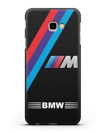 Чехол с логотипом BMW M Series силикон черный для Samsung Galaxy J4 Plus [SM-J415]