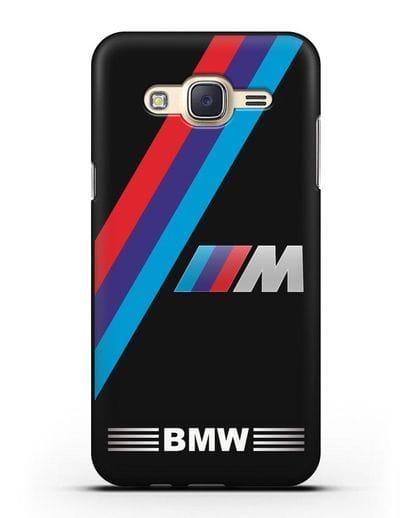 Чехол с логотипом BMW M Series силикон черный для Samsung Galaxy J7 2015 [SM-J700H]