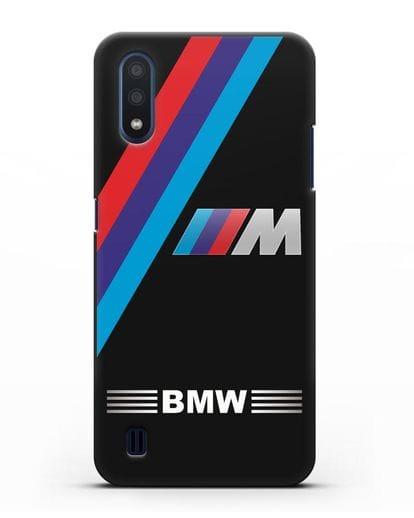 Чехол с логотипом BMW M Series силикон черный для Samsung Galaxy M01 [SM-M015F]