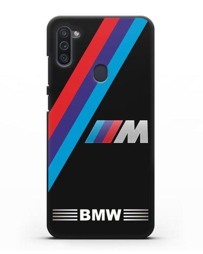 Чехол с логотипом BMW M Series силикон черный для Samsung Galaxy M11 [SM-M115F]