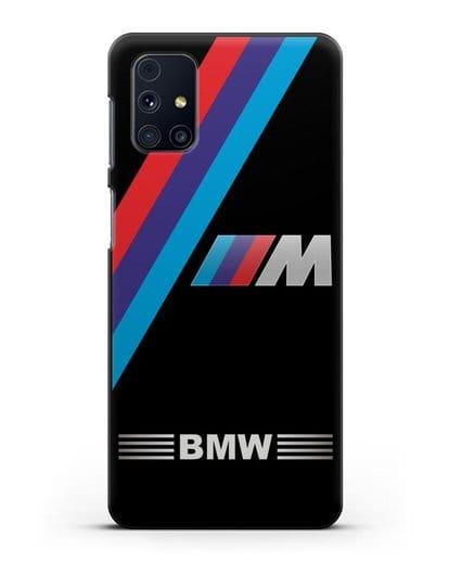 Чехол с логотипом BMW M Series силикон черный для Samsung Galaxy M51 [SM-M515F]