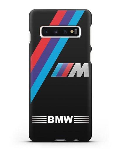 Чехол с логотипом BMW M Series силикон черный для Samsung Galaxy S10 Plus [SM-G975F]