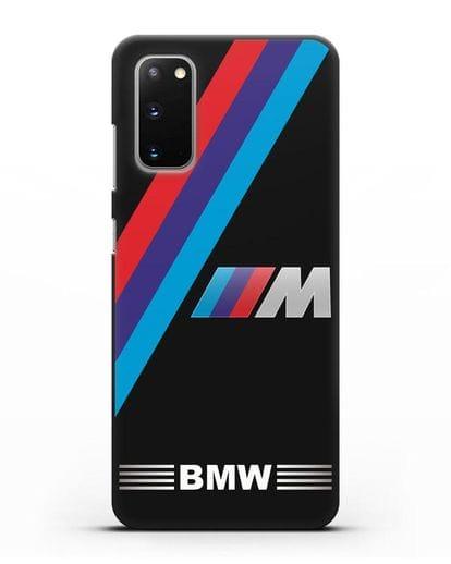 Чехол с логотипом BMW M Series силикон черный для Samsung Galaxy S20 [SM-G980F]