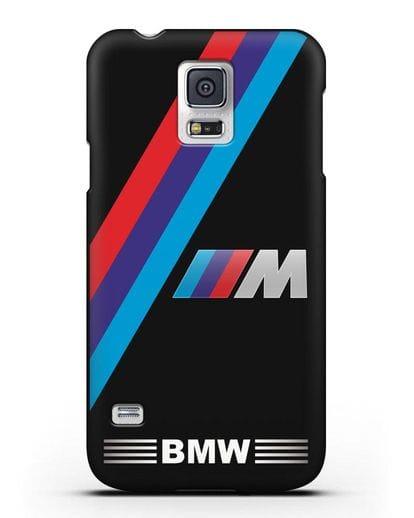Чехол с логотипом BMW M Series силикон черный для Samsung Galaxy S5 [SM-G900F]
