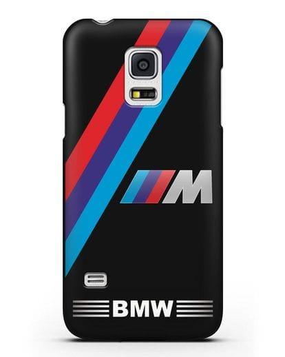Чехол с логотипом BMW M Series силикон черный для Samsung Galaxy S5 Mini [SM-G800F]