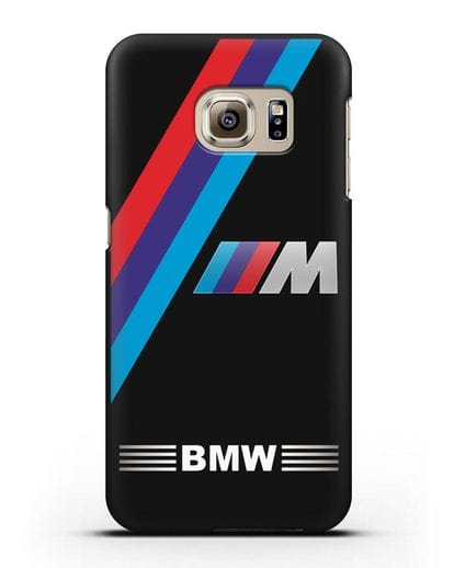 Чехол с логотипом BMW M Series силикон черный для Samsung Galaxy S6 Edge [SM-G925F]